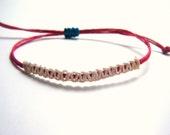 Handmade 4th of july patriotic  Hemp Adjustable Bracelet ON SALE