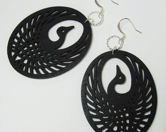 Black Crane Earrings