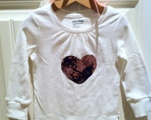 Custom Hearts Applique Bodysuit or Shirt - You Choose Size and Color