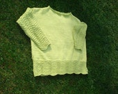 Sale/READY TO SHIP/ GORGEOUS Hand Knitted Casual Style Ripple Boat Neck Sweater/woman size 2X-3X-4X