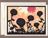 Sunflowers at Sunset - Greeting Card