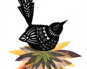 Bird's Nest - 5 x 7 inch Cut Paper Art Print