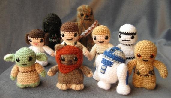 PATTERNS for All 10 Star Wars Mini Amigurumi