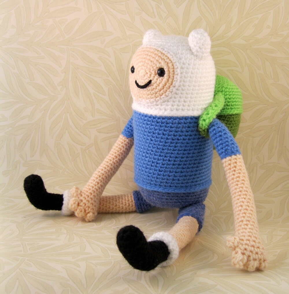 Adventure Time Jake Amigurumi Pattern : Finn the Human Amigurumi Pattern PDF Crochet Pattern