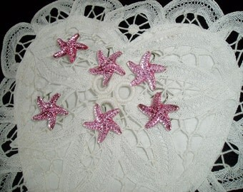 Starfish Hair Swirls Twists Spins Spirals for Beach Wedding Party In Pink Acrylic