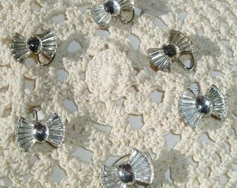 Vintage Crystal Clear Bow Hair Swirls Spins Spirals Twisties