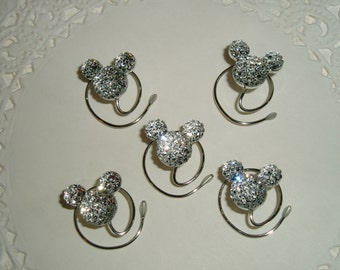 MOUSE EARS Hair Swirls for D Wedding in Dazzling Clear Acrylic