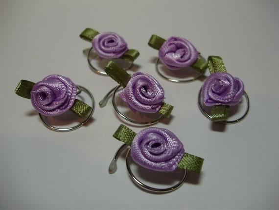 Lavender Rose Hair Swirls Spins Twists Spirals Coils Debs Twisties