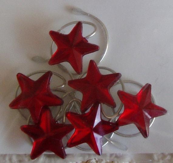 Red Acrylic Star Hair Swirls Twists Spins Spirals Coils