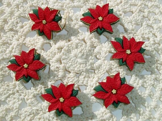Christmas Poinsettia-Wedding Hair Swirls-Hair Spins-Hair Spirals-Hair Twists-Christmas Party Hair Accessory