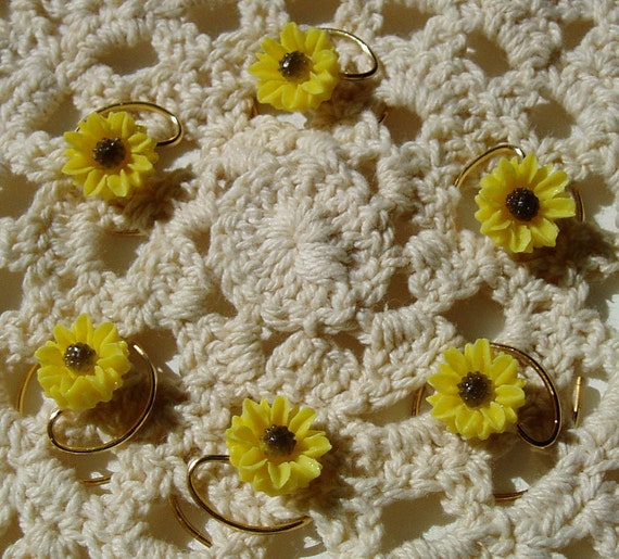 Yellow Daisy Hair Swirls for Summer Wedding Coils Spins Spirals Twists Debs Twisties Hairswirls1