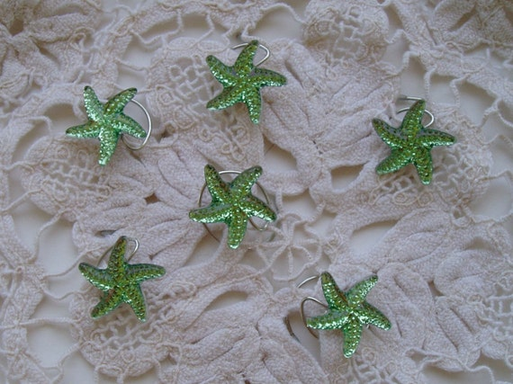 Mermaid Starfish Hair Swirls Twists Spins Spirals for Beach Wedding Party Mint Green Acrylic Hair Jewelry Hair Accessory Bridal Party