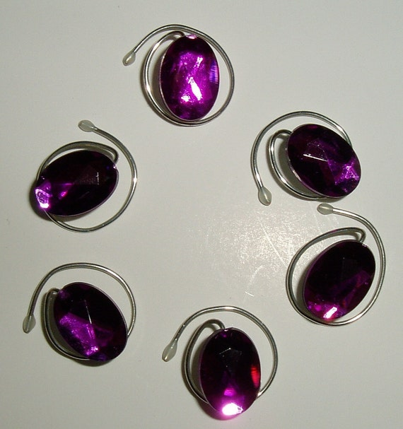 Dazzling Purple Oval Acrylic Hair Swirls Twists  Spins or  Coils