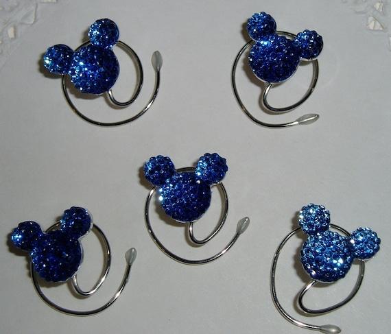 MOUSE EARS Hair Swirls for Disney Wedding in Dazzling Royal Blue Acrylic