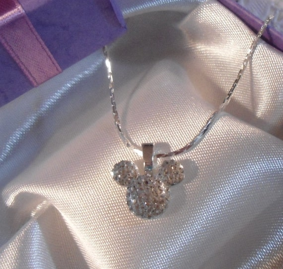 MOUSE EARS Necklace for  Wedding Party in Dazzling Clear Acrylic