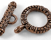 4 Toggle Claps in Antiqued Copper- 17.5mm
