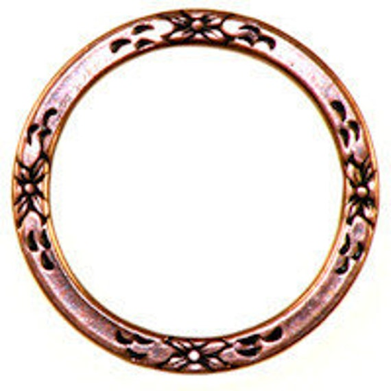 Trinity Brass Co. Floral Eternal Ring in Trinity Antique Copper- 25mm