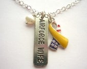Air Force Wife - Silver and Pewter Military Necklace