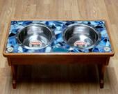Custom Mosaic Elevated Dog Bowls Double 2 Quart