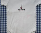 cute 'i love my mum'  baby one piece, romper, onesie by Smith & West