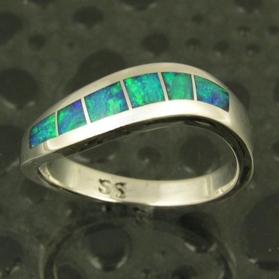 Australian Opal Ring in Sterling Silver
