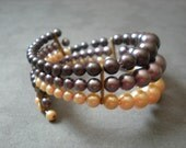 Vintage Faux Pearl Wrap Bracelet
