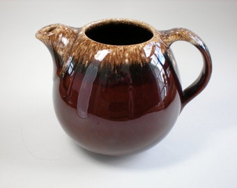Vintage Hull Brown Drip Pitcher Teapot