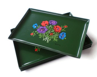 Vintage Georges Briard Hors d'oeuvre Tray Set