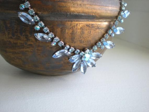 Vintage Blue Juliana Rhinestone Necklace Choker