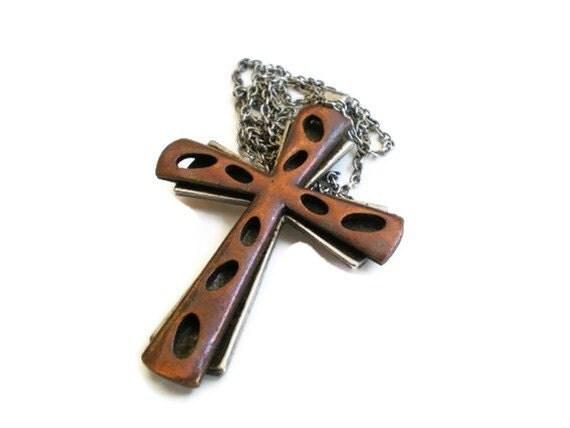 Vintage Reversible Cross Necklace
