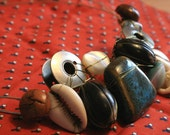 Art Necklace - Bobbins and buttons
