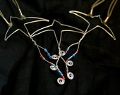 Wire-work Art Necklace - Soaring Swallows