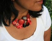 Art Necklace - Love Heart Rouge