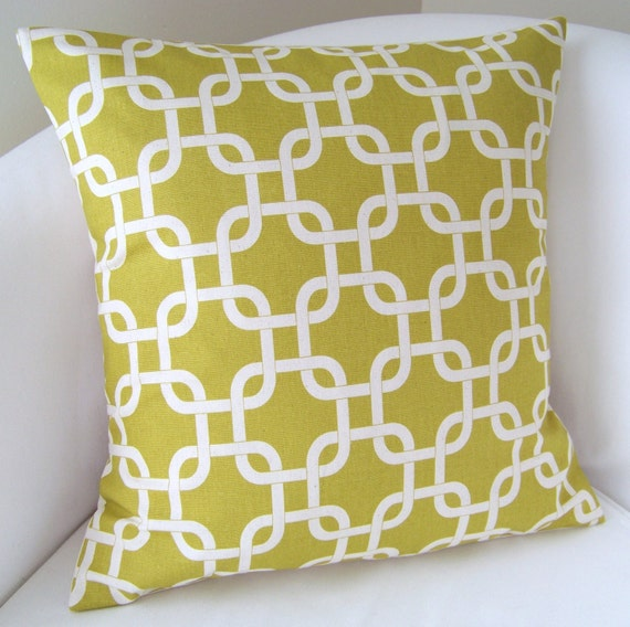 Decorative Pillow Cover 18x18 Inch Citrine Accent Cushion Throw