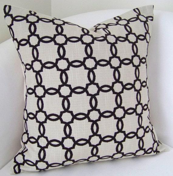 Decorative Pillow Cover Brown Pillow 18x18 Inch Trellis Lattice Accent Throw Pillow Cushion