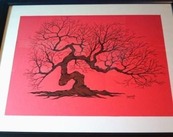 Original Painting...Winter Tree