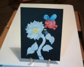 Original Painting..Button Fairy 3