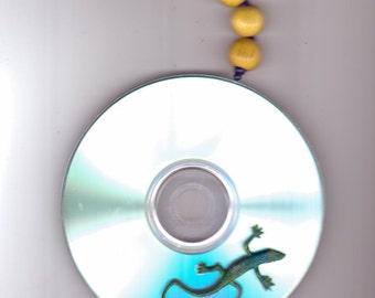 CD Sun Catcher..With Lucky Lizard