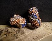 1 dread bead,hair bead, Native, Tribal, grungy,carved polymer, CUSTOM ORDER