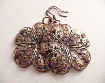 Copper Flower Earrings - The Emma Earrings