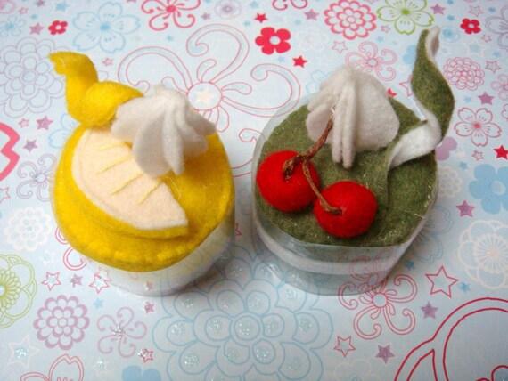 Felt - Mini Lemon Mousse and Green Tea Mousse Cakelets