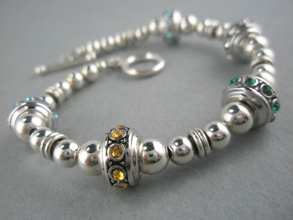 Any Women's Birthstone and Sterling Silver Bracelet