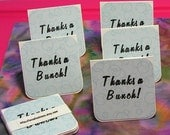 Handmade Mini Thank You Notecards in Blue - Eight