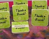 Handmade Mini Thanks a Bunch Notecards in Lime Green - Eight