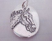 Custom Silver Horse Pendant Made from Your Horse's Photo