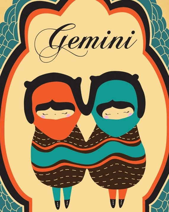 Gemini Horoscope Drawings Gemini Zodiac Sign Drawing Art