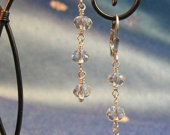 Crystal Rondelle Dangle Earrings
