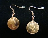 Copper Canadian Penny Earrings - 1963 - Great Price - FREE SHIPPING