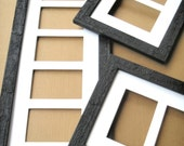"""7 Multi opening photo picture frame collage for 7) 4x6 or 5x7 images in our """"Dakota Style"""" (..we can make as many openings as you need..)"""