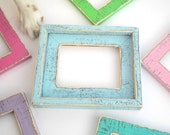 "4x6 OR 5x5 OR 5x7 in our ""Colored Barnwood"" 2"" wide with outside cap  Photo Picture Frames (You CHOOSE from 28 Colors)"